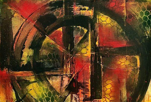 Abstracct Symbol 80x120 Spraypaint & Acryl on Canvas
