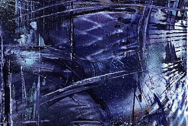 Abstracct Violet 40x120 Spraypaint & Acryl on Canvas