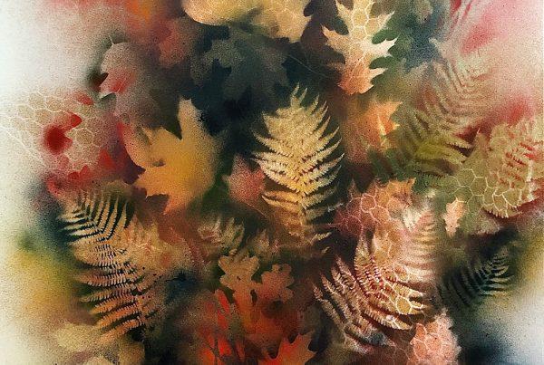 Autumn Abstracct 100x140 Spraypaint & Acryl on Canvas