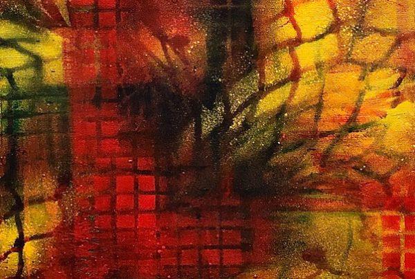 Autumn Abstracct 2 40x120 Spraypaint & Acryl on Canvas