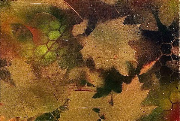 Autumn Leaves 1 40x120 Spraypaint & Acryl on Canvas