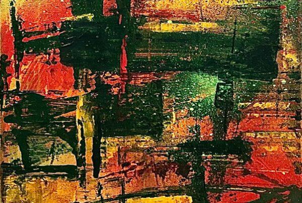 Indian Summer 1 30x100 Spraypaint & Acryl on Canvas