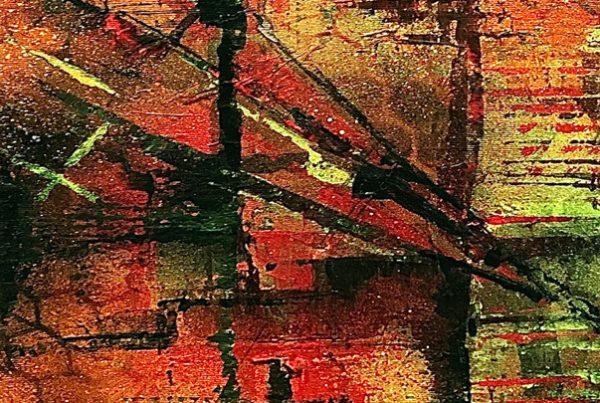 Indian Summer 2 30x100 Spraypaint & Acryl on Canvas
