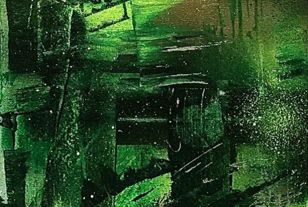 Kalligraphy 30x100 Spraypaint & Acryl on Canvas