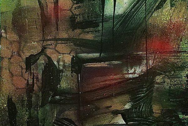 Kalligraphy 2 40x120 Spraypaint & Acryl on Canvas