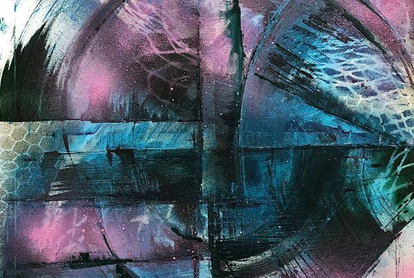 Lagoon 80x120 Spraypaint & Acryl on Canvas