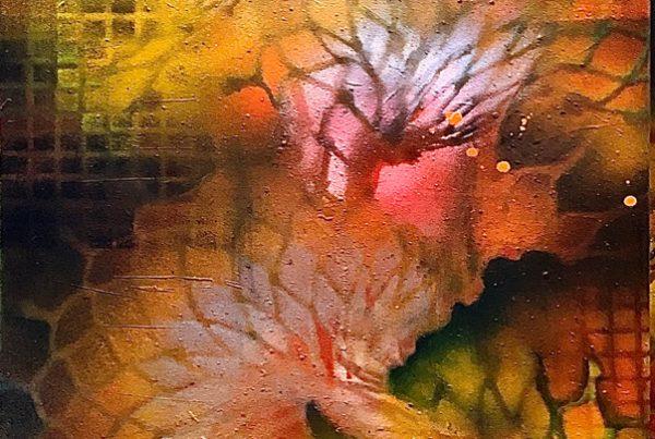 Lotus Melt 50x150 Spraypaint & Acryl on Canvas