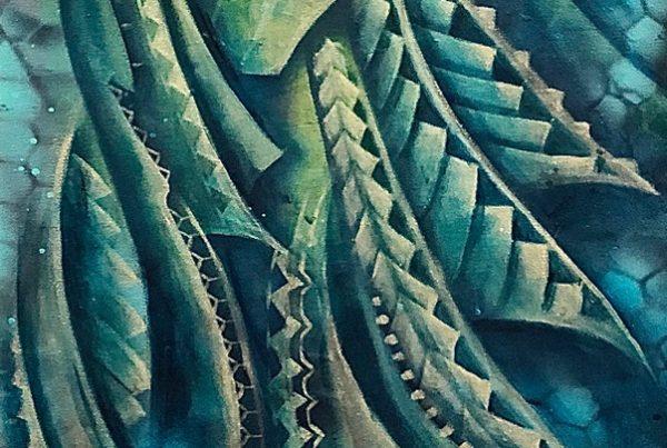 Swarm Maori 40x120 Spraypaint & Acryl on Canvas